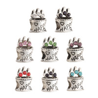 antique cake plate - DIY Metal Birthday Cake Beads Antique Silver Plated With Crystal Handmade Charm Beads Fit Bracelets Necklace XZ31