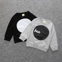Wholesale Letter Print Sweatshirt Kids Clothing Baby Clothes for Boys Girls Children Toddler Boutique Tshirt Winter Spring Outwear Fashion