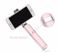 aluminum gifts for women - Lipstick Nude Design Bluetooth Wireless Mini Selfie Stick for iPhone s Plus Android Phone S7 edge S6 Women Exclusive Gift