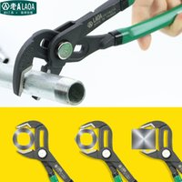 Wholesale LAOA Inch multifunction Water Pump Pliers Pipe Wrench Plumbing combination pliers Grip pipe wrench Plumber Hand Tools