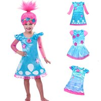big girl costumes - Big Girls Trolls Costumes Party Dresses New Children Christmas Princess Lace Dress Summer Spring Kids Baby Long Sleeve Clothing PX A13