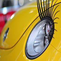 Wholesale 10 Pair X Car Eyelash Automotive Eyelashes Eyeliner D Car Logo Sticker Stereo car Accessories