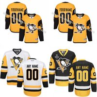 Wholesale 2017 Stadium Series Premier Customized Men s Pittsburgh Penguins Custom Any Name Any Number Ice Hockey Jersey Embroidery Logos size S XL