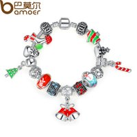 Wholesale BAMOER High Quality Chain Bracelet for Women With Exquisite Murano Glass Beads Christmas Charm Gift DIY Gift PA1805