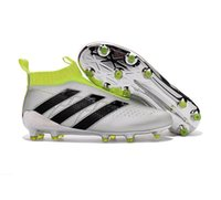 Wholesale 2017 Adidas Football Shoes Originals ACE PureControl FG Soccer Shoes Men Soccer Cleats Hot Sale Cheap No LACES Sports Boots