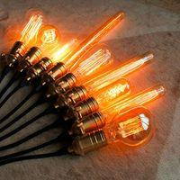 Wholesale Edison Light Bulbs V V E27 W Incandescent Light Bulbs G80 G95 A19 T10 T45 T185 T300 ST64