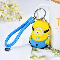 Wholesale Men and women Car Keychain braided rope Keychain cartoon doll lovers pendant small gift Keychain