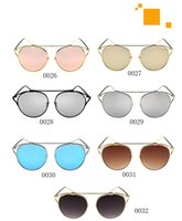 beam standards - 2016 New Cat Eye Sunglasses Women Brand Designer Fashion Twin Beams Rose Gold Mirror Cateye Sun Glasses For Female UV400