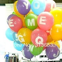 alphabet party favors - Letter A Z alphabet inch balloons for wedding favors Birthday Party Wedding Decoration balloons