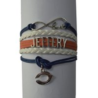 Wholesale Love Bears Jeffery Payton Bracelet Handmade Sports Team Football Charm Team Bracelet jersey
