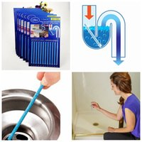 bathtub drain pipe - Sani Sticks Drain Cleaner Kitchen Toilet Bathtub Dredge Agent Drain Cleaners Keeps Pipes Deodorization Odor Free Household Cleaning Tool F63