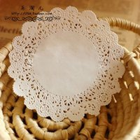 Wholesale inch Round Paper Lace Doilies for Wedding Party Decorations Cupcake Cake Paper Doily DIY scrapbooking craft