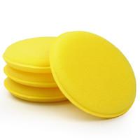 Wholesale Yellow Anti Scratch Car Wax Sponge Applicator Pads Tyre Dressing Foam Polishing Towel set Car Cleaning Tool