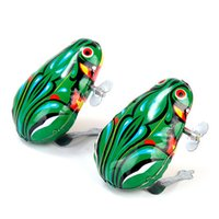 Wholesale Clockwork Iron jump frog toy Nostalgic classic childhood toys A pack of four Very fun Chinese toys The cheapest toy