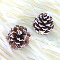 bar none chocolate - 10Pcs a set Christmas Dyed White Pine Cones With Wire Christmas tree Ornaments Pendant Decoration Bar Home Party Supplies