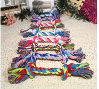 Wholesale Pet favorite chew and toys durable Cotton rope knot toys for dogs and cats pet product pie