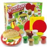big hamburger - Color Clay Dough set Funny Children Cooking Hamburger Master Free Tools and Accessories For Kid the best gift for children Large