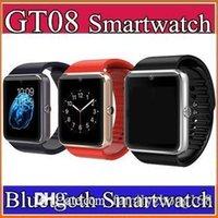 Montre de fitness de santé à puce Prix-20X GT08 DZ09 Bluetooth Smart Watch avec fente pour carte SIM et NFC Health Watch pour Android Samsung et IOS Smartphone Smartwatch C-BS