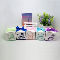 baby food sweet - 50pcs Hollow BB trolley Paper Box wedding sweet love Favour Gift and Candy Boxes baby shower Favor Best Chocolate Box