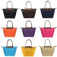 Wholesale Fashion Bags Totes Colors Middle Size Summer Beach Dumplings Bags Waterproof Nylon Handbag Plain Shopping Bag Foldable Tote Bags