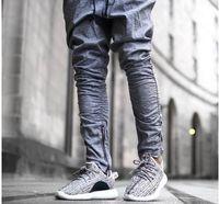 achat en gros de vêtements pour hommes casual urbain-Casual Harem Men Pants Sweatpants Justin Bieber Kanye Fear Of God Pantalons Mens Joggers Jumpsuit Urban Clothing