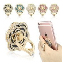 angled grip - Phone Stand rose shape Universal Phone Stand Multi Angle Portable Stand Rotation D Aluminium Alloy Ring Grip Phone Holder
