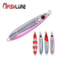 Afishlure Long Shot Медленная тонущая приманка Металлическая пластина Lead Jig 45г Приманка для рыбалки Многоцветная пресноводная рыба для солёной воды