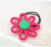 Wholesale Children s double elastic hair band Han edition female baby headdress flower accessories factory direct sale shipping free