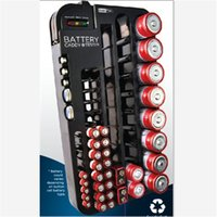 battery storage tester - Outdoor Camping Hiking Black Battery Storage Organizer Rack Batteries Holder with Removable Tester Case Organizer Travel Kits