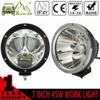 atv led headlights - XuanBa Cree inch W Round Led Work Light Spot Beam V x4 Off road Boat Truck SUV ATV Headlight Driving Lights V Fog Lamp