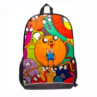 al por mayor bolso del jake del tiempo de la aventura-Back to School Fashion Mochilas Adventure Time para Teenage Boys Finn y Jake School Bolsa de libros para estudiantes Esc Mochila