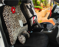 Wholesale cover ltd new Girls Lovely Cartoon Leopard grain Mickey Mouse Fashion Universal car seat cover general plush cartoon seat covers