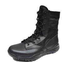 Botas de trabajo de tobillo para hombres Zapatos de combate para botas de tactica super ligera Botas de entrenamiento militar para el desierto Botas de excursionismo al aire libre para trepar al aire libre