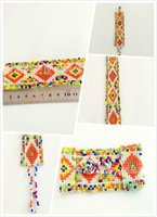 Wholesale South America Bohemian African ethnic exotic style hand woven beaded bracelet