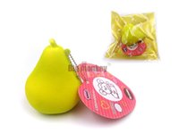 Wholesale 6 cm new Kawaii arrival slow rising aroma Pear with squishy charm toy