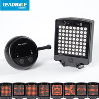 Wholesale LEADBIKE Night riding Bicycle Turn Signals Safety Warning Light LED Laser Bicycle Rear Tail Light USB Rechargeable With Wireless Remote