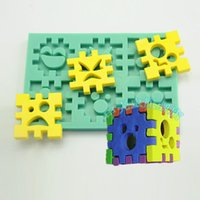 baby blocks cake - 1pcs Building Block Silicone D Mold patisserie reposteria Fondant Cake Decorating Tools Gypsum Pastry Mould Kitchen Accessories Baby Party