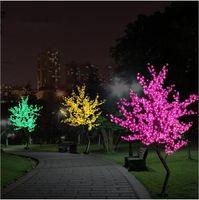 Wholesale New Luz De LED Cherry Blossom Tree Light Luminaria M M LED Tree Lamp Landscape Outdoor Lighting for Christmas Wedding Deco