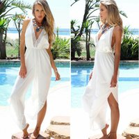 Loose plus size jumpsuits - Jumpsuits Plus Size Pants Beach Romper Suit Women Fashion Clothing Chiffon V neck Sexy Backless Lace Condole Belt Vest Jumpsuits