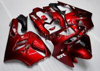 Nouveau kit de carénage en vélo ABS pour KAWASAKI Ninja ZX9R 1994 1995 1996 1997 ZX-9R 9R 94 95 96 97 Carrosserie réglable rouge foncé brillant