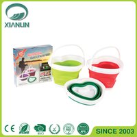 Wholesale Household Cleaning Collapsible Buckets Expandable buckets Love Style L L High Quality Outdoor Buckets
