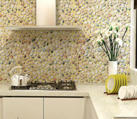pvc cabinet doors - Pvc waterproof D wallpaper wardrobe furniture stickers kitchen cabinet door decor Pastoral stone stickers CMX5M