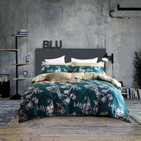 Cheap 4 Piece Bedding Sets Classical Luxury Bed Sheets Soft Cotton Microfiber Printed Reversible Chinese Style Sheets Quilt Pillowcase