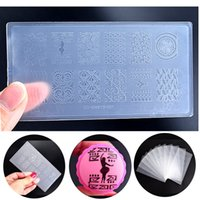Wholesale New Engineering plastic Nail Art Stamping Template DIY Polish Print Stencil Nail Stamp Mould Manicure Nail Plates