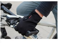 Wholesale New Touch Screen Windproof Warm Gloves Outdoor Cycling Skiing Hiking Unisex Black Men Women Sports Race Glove M L XL Size