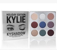 Wholesale Christmas Gift Kylie Cosmetics Kyshadow Pressed Powder Eye Shadow Palette Holiday Edition Kyshadow Holiday Palette Colors In Stock