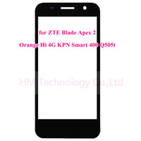 apex lcd - pc Outer Glass Lens for ZTE Blade Apex Orange Hi G KPN Smart Q505t Front Sensor No Touch Digitizer No LCD Free Tools