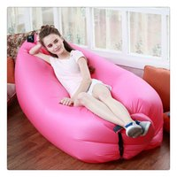 Wholesale Hot New Fast Inflatable Air Sleeping Bag Waterproof Lazy Sofa Bed Festival Camping Hiking Outdoor Hangout Beach Bag Bed Camping Banana Couch