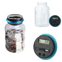 bank coin counting - Electronic LCD Counting Coin Saving Pot Money Boxes Showing Piggy Bank