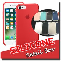 Silicone apple official - Official Style Thin Slim Soft Silicone Rubber Case Cover Skin For iPhone Plus S inch With Retail Package